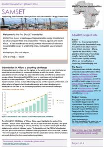 SAMSET newsletter 1 front page