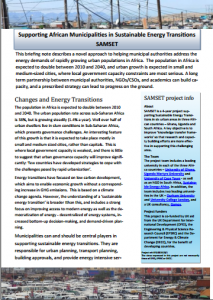 SEA Policy Brief Leaflet for SAMSET